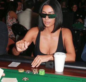 kim kardashian poker mirrored glasses